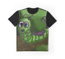 Green Caterpillar  Graphic T-Shirt