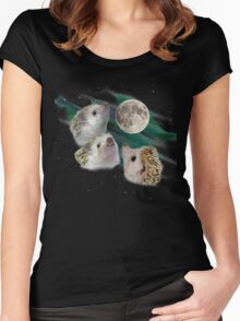 Three Hedgehog Moon Women's Fitted Scoop T-Shirt