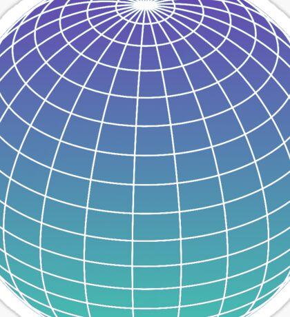 Retro Globe Sticker