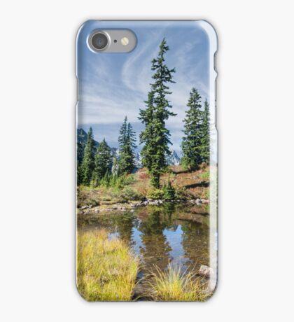 Alpine Pond in the Fall iPhone Case/Skin