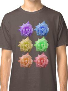 Row of Rose, Rainbow Classic T-Shirt