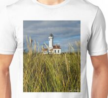 Point Wilson Lighthouse and Grassy Foreground Unisex T-Shirt