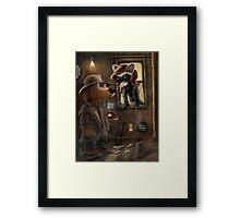 Private Detective Frank Framed Print