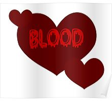 Blood Hearts - Red Poster