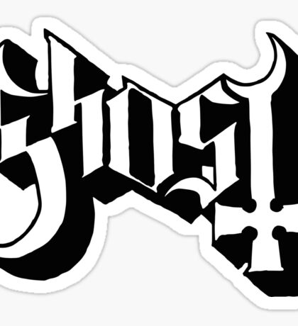 Ghost (Ghost BC) White/Black HD Logo Sticker