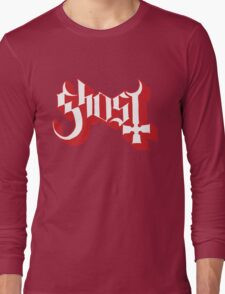 Ghost (Ghost BC) Red HD Logo Long Sleeve T-Shirt