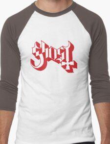 Ghost (Ghost BC) Red HD Logo Men's Baseball ¾ T-Shirt