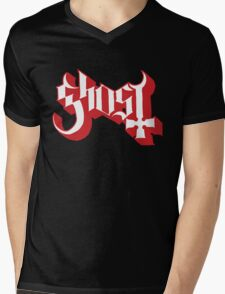 Ghost (Ghost BC) Red HD Logo Mens V-Neck T-Shirt