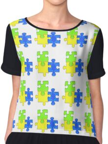 Puzzle Chiffon Top