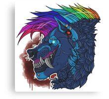 Bloodstar, Rainbow is the new Black Canvas Print