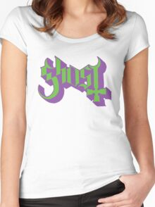 Ghost (Ghost BC) Green/Purple HD Logo Women's Fitted Scoop T-Shirt