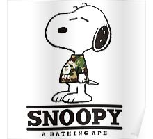 Snoopy Bape Poster