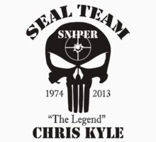 seal team sniper The Legend chris kyle Kids Tee