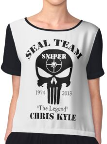 seal team sniper The Legend chris kyle Chiffon Top