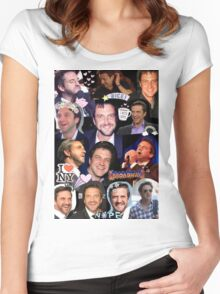 Raúl Collage Women's Fitted Scoop T-Shirt
