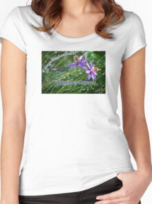 Featured Banner Challenge for Bubbling Artists Women's Fitted Scoop T-Shirt