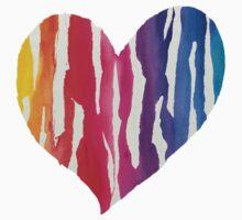 Rainbow Heart One Piece - Long Sleeve