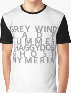 GoT Direwolf Typography (transparent) Graphic T-Shirt