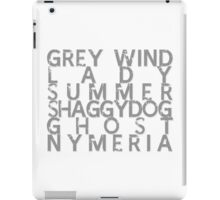GoT Direwolf Typography (transparent) iPad Case/Skin