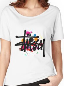 STUSSY EDITION BRUSH COLORS Women's Relaxed Fit T-Shirt