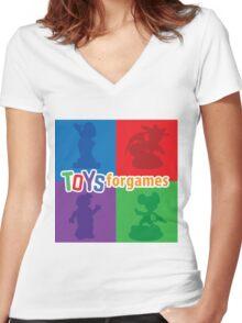 Toys For Games Logo Women's Fitted V-Neck T-Shirt