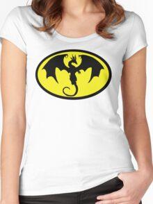 Batman Dragon Women's Fitted Scoop T-Shirt