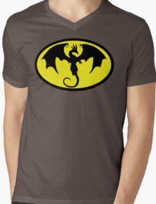 Batman Dragon Mens V-Neck T-Shirt