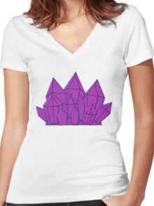 The Cluster Women's Fitted V-Neck T-Shirt