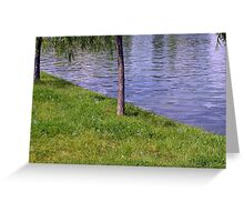 Soap bubbles in the park. Greeting Card