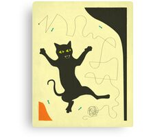 BLACK CAT WITH STRING Canvas Print