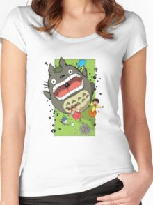 My Neighbor Totoro Funny Women's Fitted Scoop T-Shirt