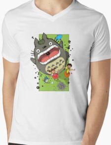 My Neighbor Totoro Funny Mens V-Neck T-Shirt