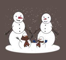 Snowman Family One Piece - Short Sleeve