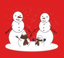 Snowman Family Kids Tee