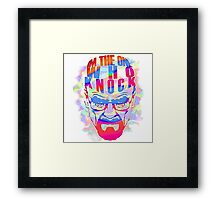 Heisenberg : I'm The One Who Knock Framed Print