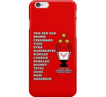 Manchester United 2008 Champions League Winners iPhone Case/Skin