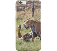 Bengal Tigers Sparring In A Marsh iPhone Case/Skin