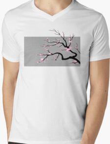 Sakura v1 Mens V-Neck T-Shirt