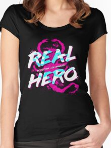 Real Hero Women's Fitted Scoop T-Shirt