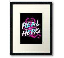 Real Hero Framed Print