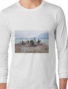 Gentoo Penguin Rookery on Trinity Island, Antarctica Long Sleeve T-Shirt