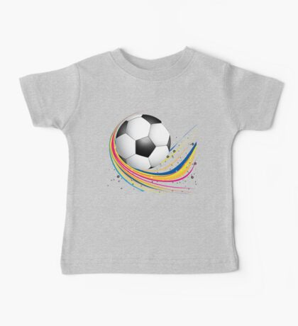 Abstract football green colorful wave Baby Tee