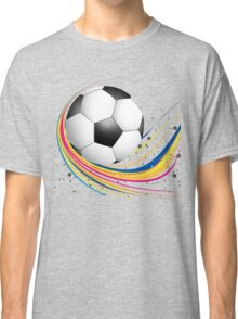 Abstract football green colorful wave Classic T-Shirt