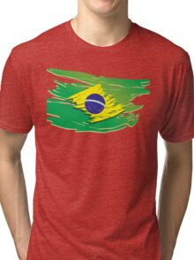 Brazil flag stylized Tri-blend T-Shirt
