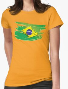 Brazil flag stylized Womens Fitted T-Shirt