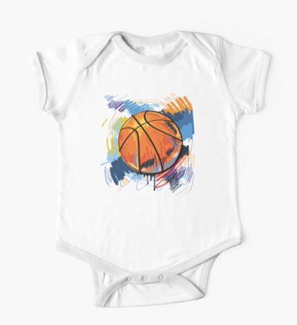 Basketball graffiti art One Piece - Short Sleeve