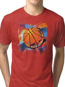 Basketball graffiti art Tri-blend T-Shirt