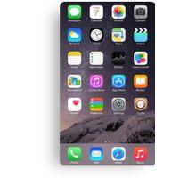 iPhone Homescreen Canvas Print