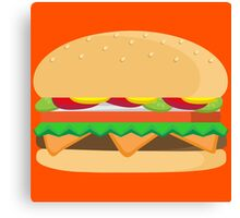 Fast Food Cheeseburger Deluxe...with cheese! Canvas Print