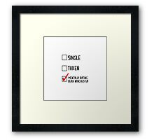 Mentally Dating Dean Winchester Framed Print